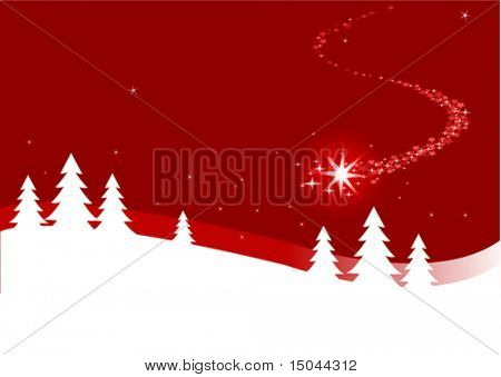 Una ilustración de fondo de Navidad abstracta con cierre estrella