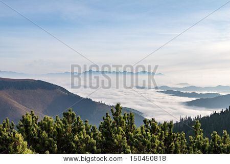 Fall Weather Inversion In Mountains - Above The Clouds