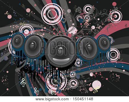 Grunge Loud Speaker