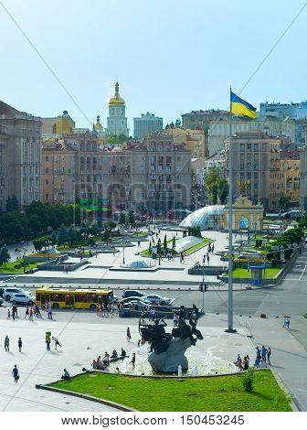 Maidan Nezalezhnosti Square. Kiev, Ukraine