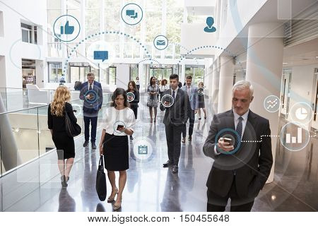 Business Men And Women Using Digital Technology