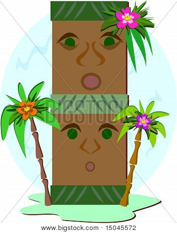 A Double Stack of Tikis