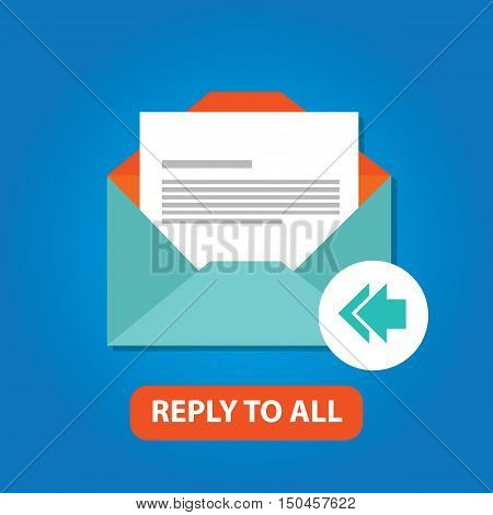 reply to all email icon vector flat arrow back vector