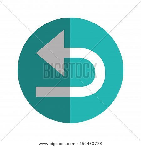 Sync refresh or webpage reload arrow. replay sign.  vector illustration