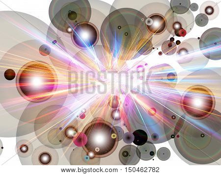 Colorful background with irradiated pattern.Texture and Abstract.