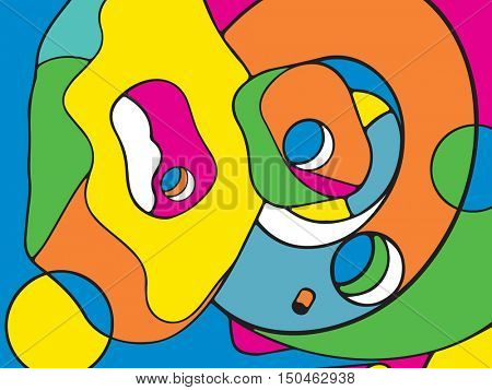 abstract design, pop art background