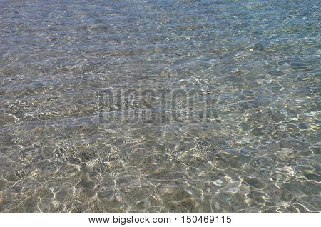 Clear Indian Ocean waters in full frame from the Coogee Beach area in Western Australia.