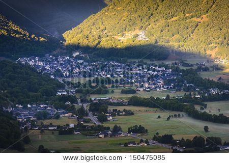 Village of Saint Lary Soulan in France
