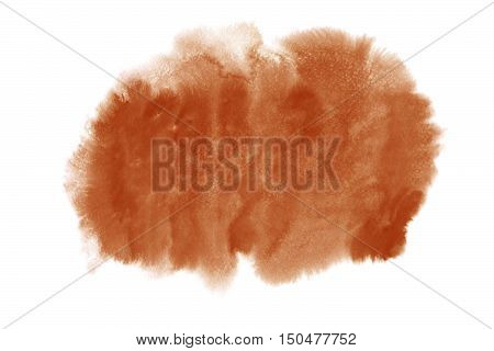 Potter S Clay Brown Watercolor Stain Isolated On White Background.