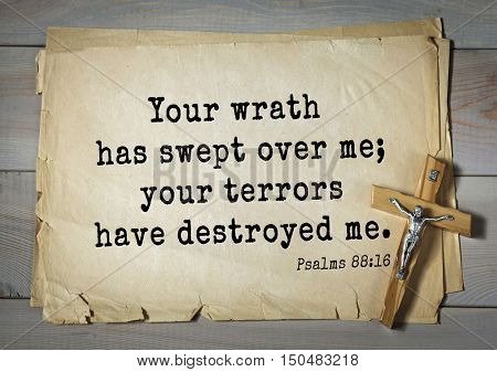 TOP-1000.  Bible verses from Psalms. Your wrath has swept over me; your terrors have destroyed me.