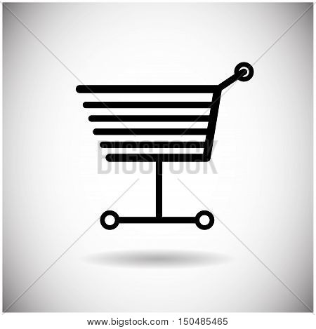 Shopping Cart Web Trolley Icon Flat Vector Illustration