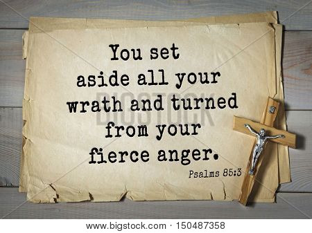 TOP-1000.  Bible verses from Psalms. You set aside all your wrath and turned from your fierce anger.