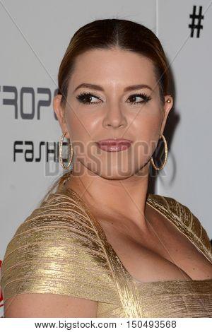 LOS ANGELES - OCT 1:  Alicia Machado at the Metropolitan Fashion Week Closing Gala and Awards Show at the Warner Brothers Studios on October 1, 2016 in Burbank, CA