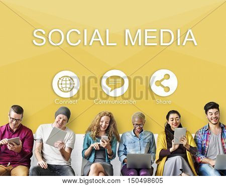 Social Media Communication Share Connect Concept