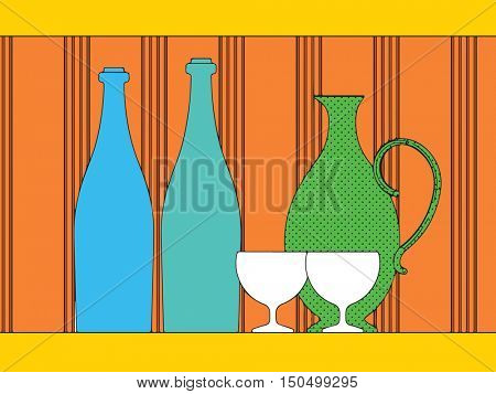 pop art drinks, abstract design