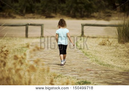 Lonely Kid Walking Away