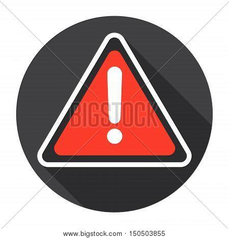 Error Exclamation Mark Computer Icon Flat Vector Illustration