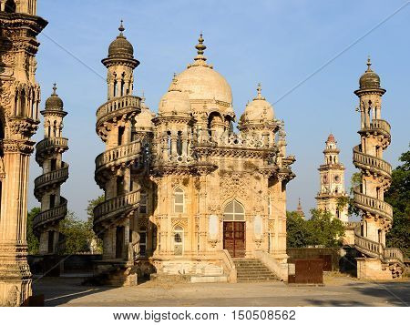 Mausoleum of the Wazir of Junagadh in Gujarat state in India