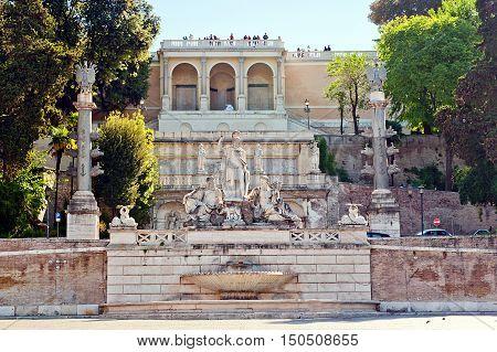 Piazza del popolo - People's Square in Rome