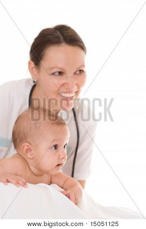 Doctor With Newborn