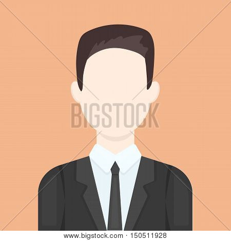Businessman icon cartoon. Single avatar, peaople icon from the big avatar collection.