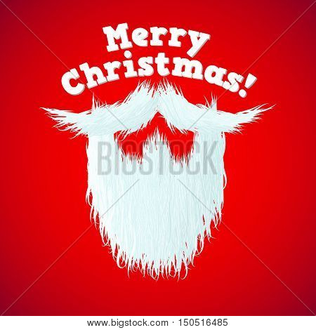 Santa Claus beard with Merry Christmas lettering