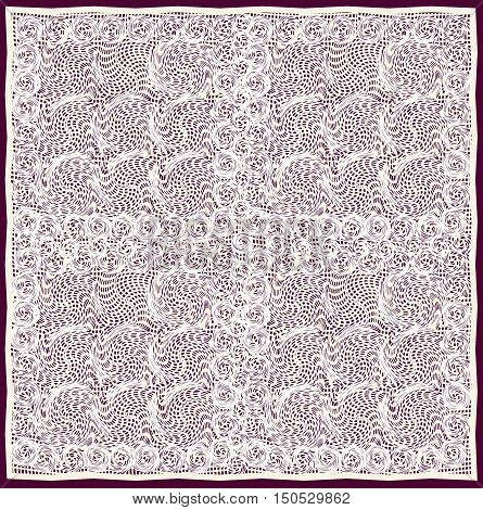 Openwork cream-coloured serviette isolated on dark background