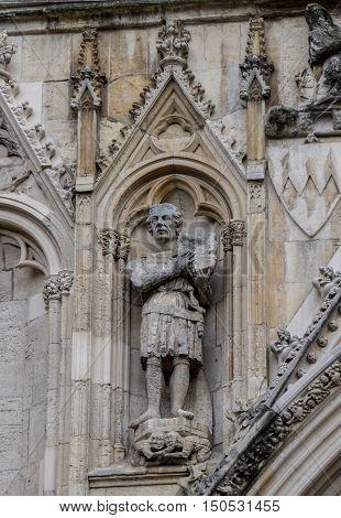 Detail of York Minster, York, Yorkshire, UK