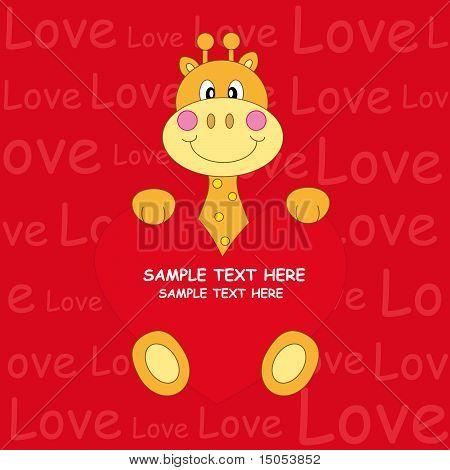 giraffe with a heart