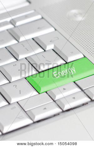 eine Tastatur mit einer Öko-option