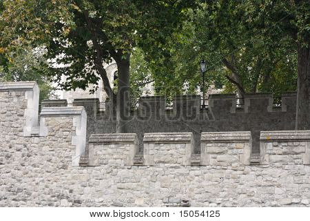 A detail of Tower of London in the UK