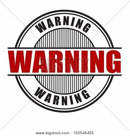Warning Stamp Or Sign