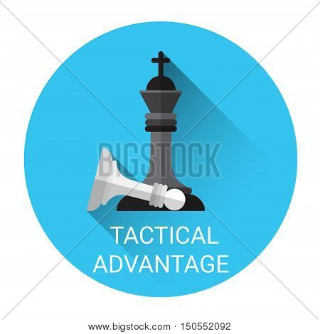 Tactical Advantage Concept Business Strategy Icon Flat Vector Illustration