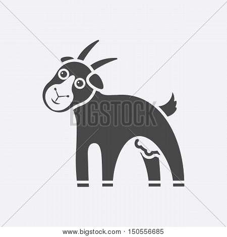 Goat icon black. Single bio, eco, organic product icon from the big milk collection.