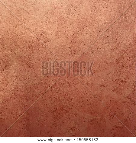 decorative plaster surface with the effect of bronze with nacre