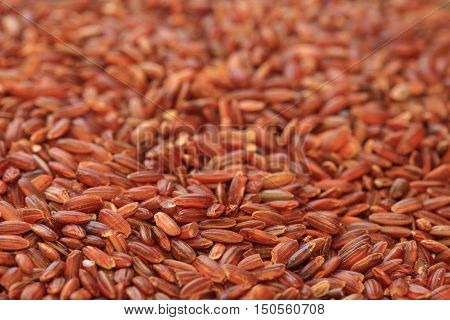 red rice photo, dry unpolished rice background