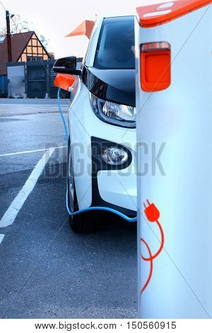 Power supply for electric car charging. Electric car charging