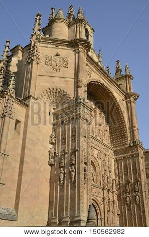 Church of the Convent of San Stephen a Dominican monastery located in the Plaza of Council of Trent in Salamanca Spain.