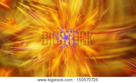 Shining brightest stars. Exotic flower. 3D surreal illustration. Sacred geometry. Mysterious psychedelic relaxation pattern. Fractal abstract texture. Digital artwork graphic astrology magic