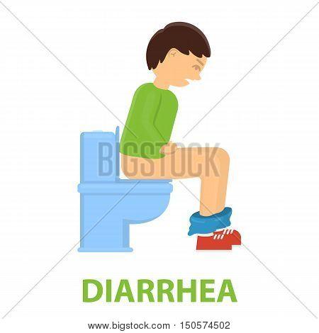 Diarrhea icon cartoon. Single sick icon from the big ill, disease collection.