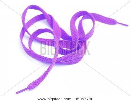 Orange shoe laces isolated on white