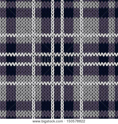 Knitting Checkered Seamless Pattern Mainly In Muted Violet Hues