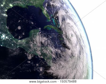 Hurricane Matthew Above Cuba