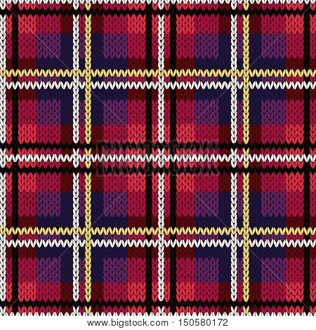 Knitting Checkered Seamless Pattern Mainly In Pink And Violet Hues