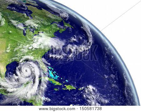 Hurricane Matthew Near Coastline