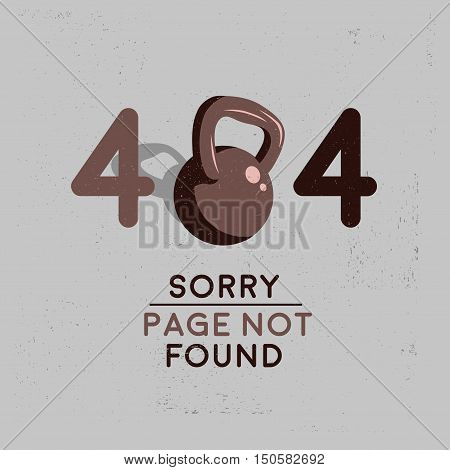 Error 404. Sorry, Page Not Found Vector Image