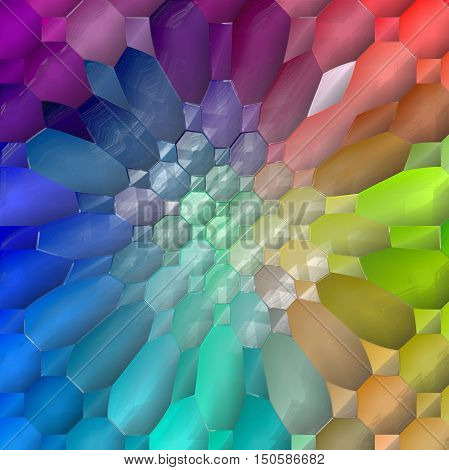 Abstract coloring background of the spectrum gradient with visual lighting,mosaic,pinch and plastic wrap effects.Good for your project design