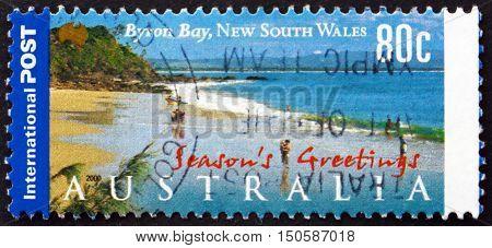 AUSTRALIA - CIRCA 2000: a stamp printed in Australia shows Byron Bay New South Wales Touristic Attraction circa 2000