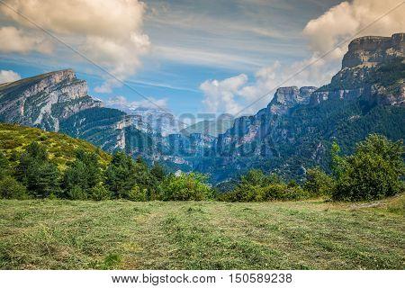 Canyon de Anisclo in Parque Nacional Ordesa y Monte Perdido Spain