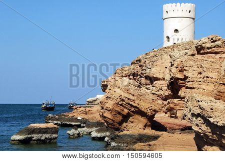 Al Ayjah Watchtower In Sur Oman